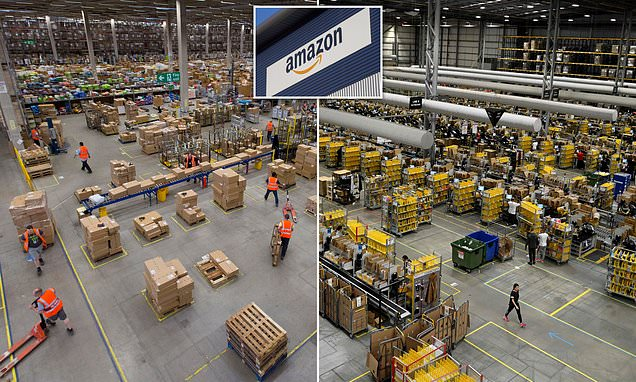 Amazon announces it will create 7,000 jobs at its warehouses and other sites across the UK