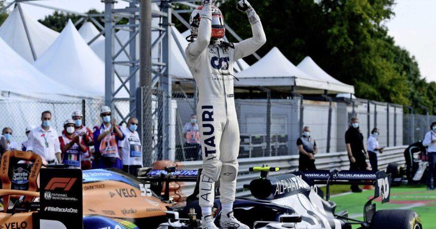 Knotsgekke GP Italië: Gasly verrassende winnaar, Verstappen valt uit