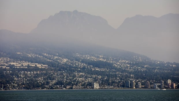 Skies hazy over much of southern B.C. as smoke from U.S. wildfires creeps north