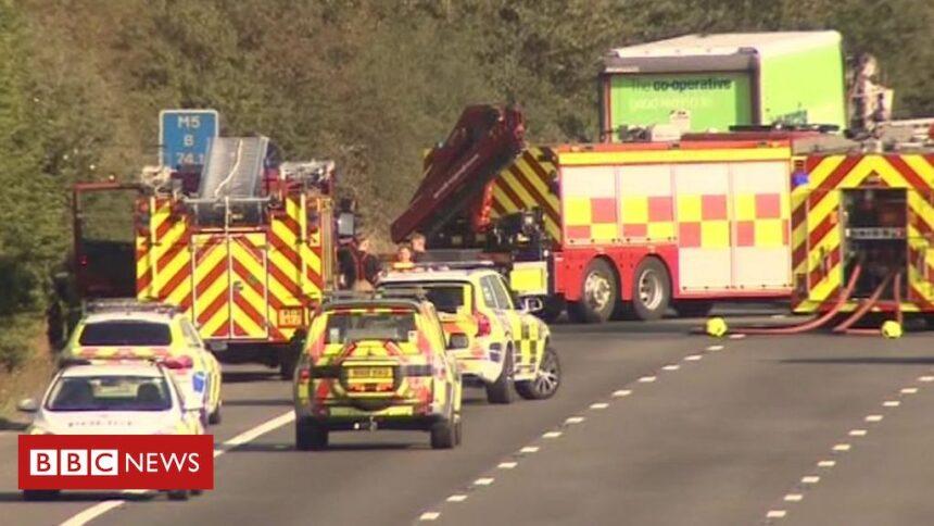 M5 crash: Motorway closed in Gloucestershire