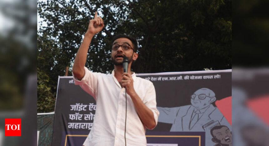 Umar Khalid held for Delhi riots 'conspiracy'