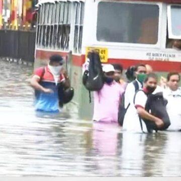 Mumbai Flooded After Heavy Overnight Rain, Trains Suspended