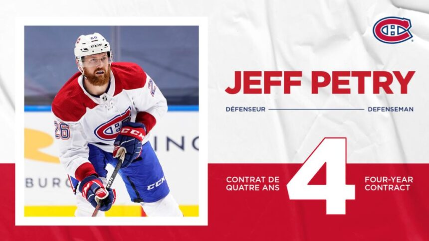 Canadiens sign defenseman Jeff Petry to a four-year contract extension