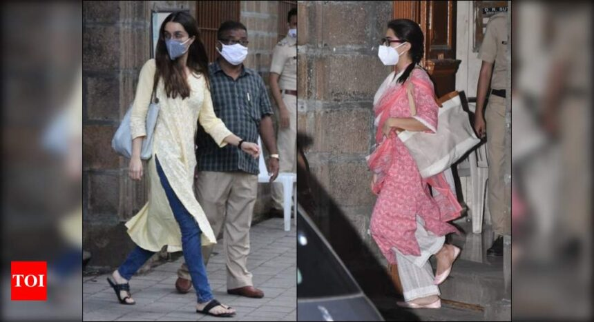 Sushant Singh Rajput's case: Sara Ali Khan and Shraddha Kapoor leave NCB office after hours of interrogat