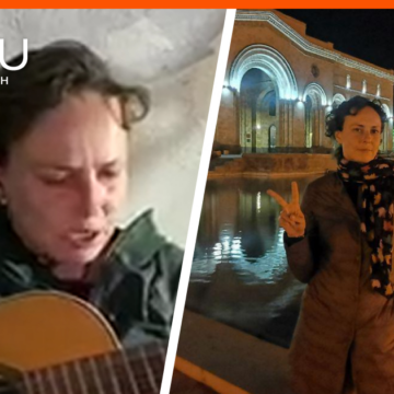 Юлия Чичерина устроила концерт в бункере в Нагорном Карабахе