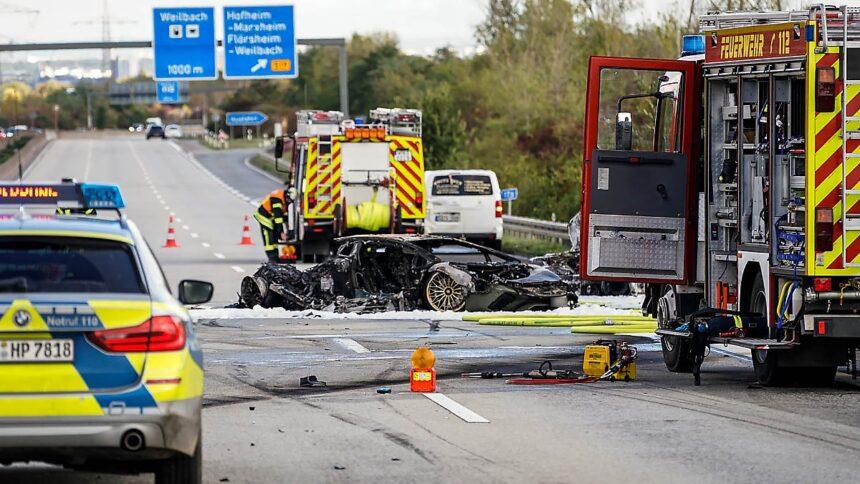 Lamborghini sichergestellt:Polizei fahndet nach Unfallfahrer von A66