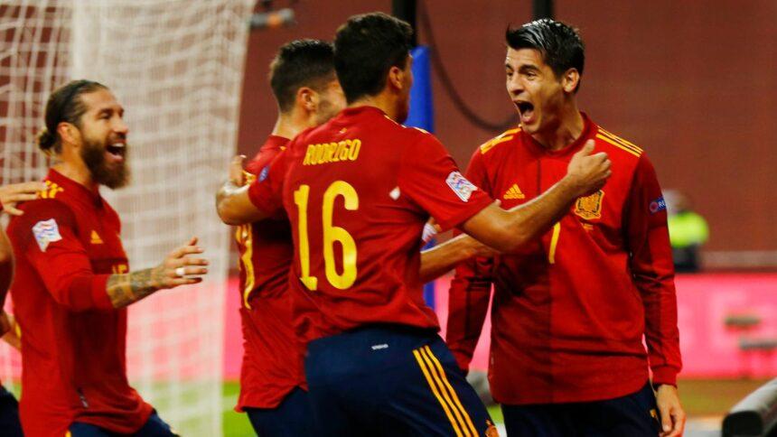 Spanje vernedert Duitsland met 6-0 en bereikt finaleronde Nations League