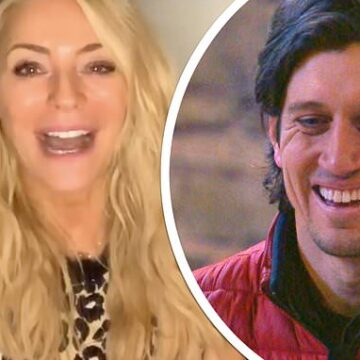 Tess Daly can't control her excitement as she celebrates Vernon Kay making I'm A Celebrity FINAL