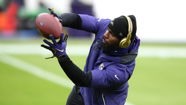 Ravens' Bryant tests positive ahead of kickoff