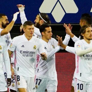 Real zet zegereeks voort bij Eibar en voegt zich naast koploper Atlético