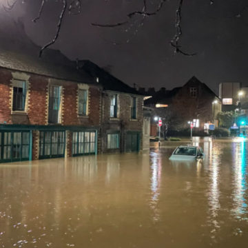 Almost 100 flood warnings in force as deluge batters England and Wales