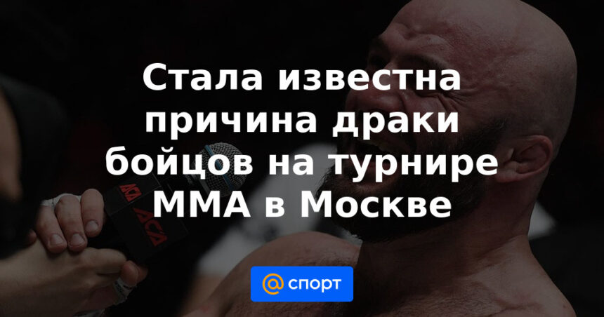 Стала известна причина драки бойцов на турнире ММА в Москве