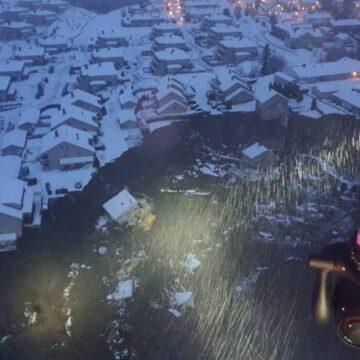 10 gewonden, 200 mensen geëvacueerd na aardverschuiving Noorwegen