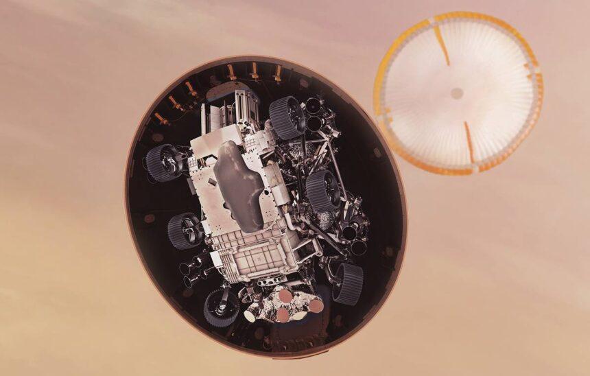 Планетоход Perseverance успешно совершил посадку на Марсе