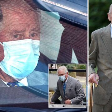 Prince Charles visits his father Prince Philip at King Edward VII hospital