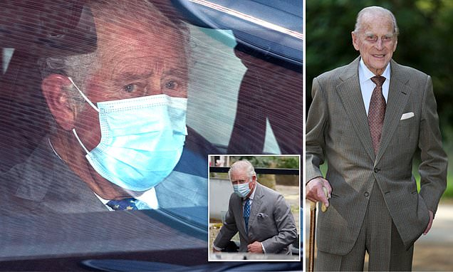 Prince Charles visits his father Prince Philip at King Edward VII hospital