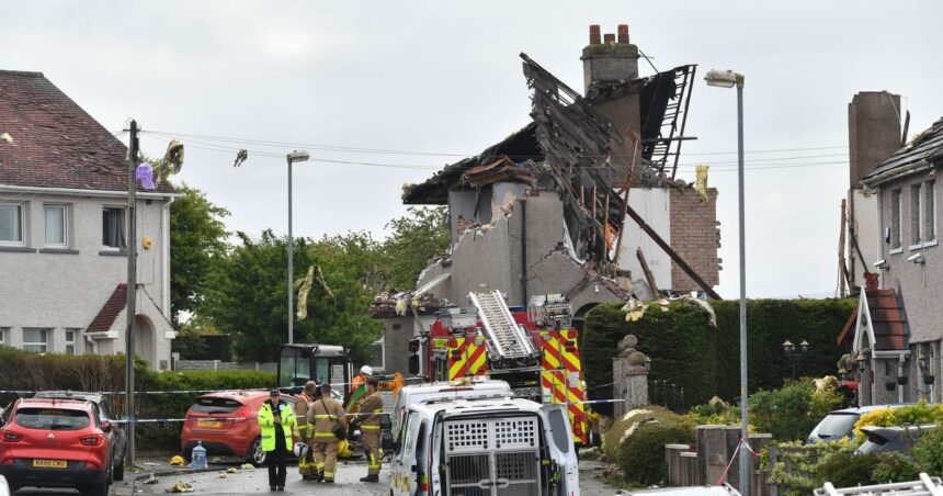 Heysham gas explosion kills young child and injures four