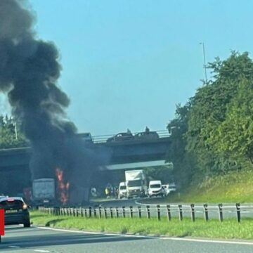 Durham A1 crash: Motorway to stay closed as police fear deaths