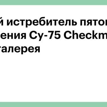 Новый истребитель пятого поколения Су-75 Checkmate. Фотогалерея