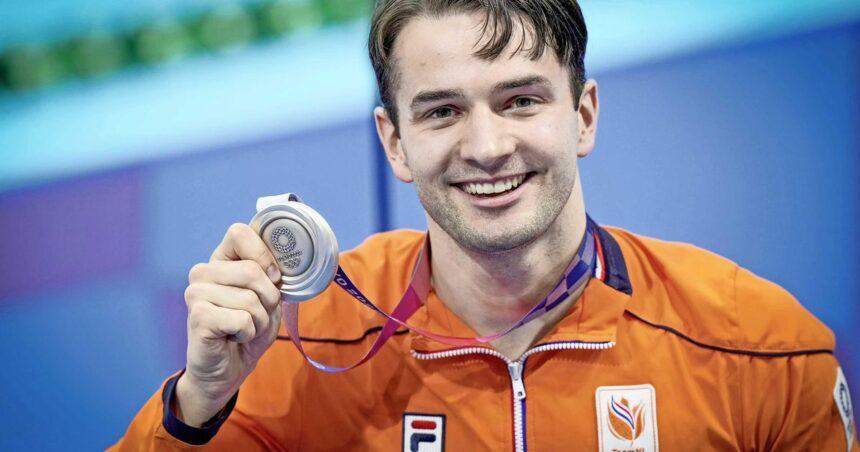 Arno Kamminga geniet van zilver: 'Ik wilde vooral racen met Adam Peaty'