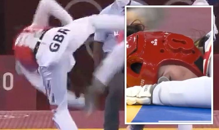 Bianca Walkden collapses to ground as she misses out on Gold medal after 8 yellow cards