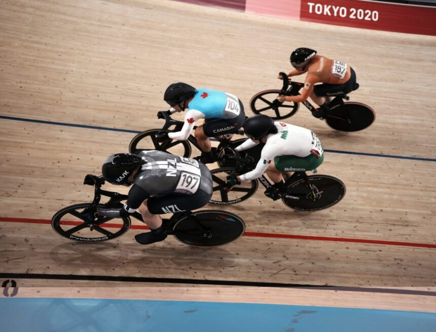 Canadian Genest wins bronze medal in women's track cycling event