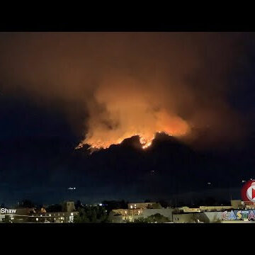 Skaha Creek fire grows to 100 hectares, very visible from Penticton