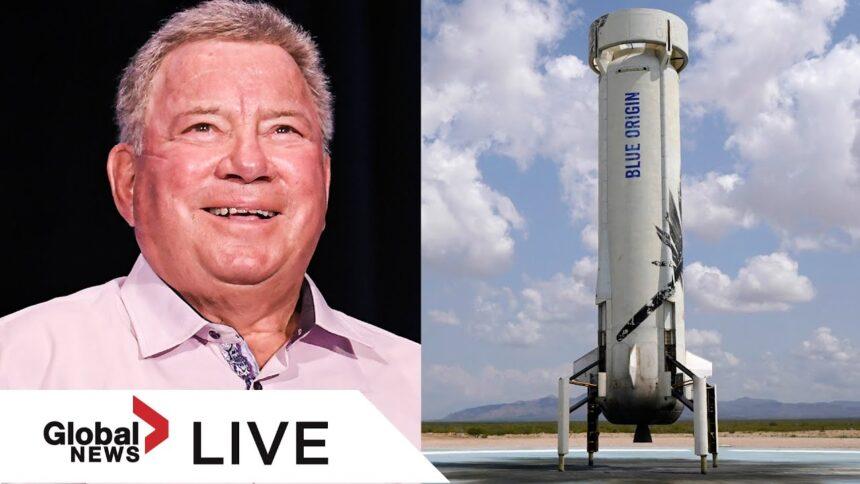 William Shatner blasts off into space aboard Jeff Bezos' Blue Origin