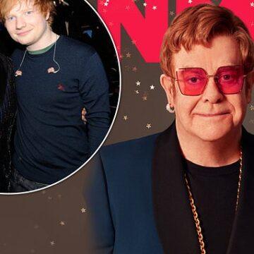 Elton John is soon retiring and calls Ed Sheeran a 'f*****g big mouth'